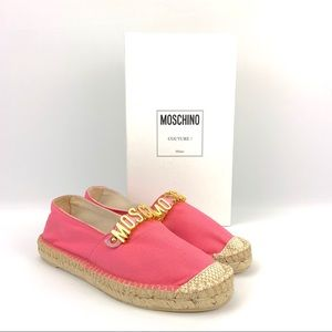 Moschino Lettering Canvas Espadrille size 38 (8)